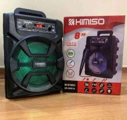Caixa de Som Kimiso 5801B com 1000 W de potência! Bluetooth, Microfone