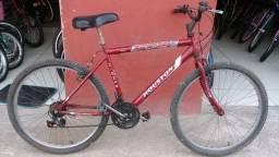 Bicicleta aro 26 com marcha revisada