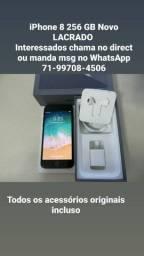 iPhone 8 256 GB - Novo LACRADO