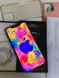 iphone 12 pro Max 128 Gb novo bateria 100% aceito troca é Cartao cre