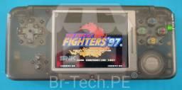 Vídeo game portatil com vários jogos - KOF, Mario, Sonic, Pokémon e Etc.