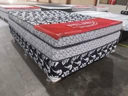 Título do anúncio: cama cama () box de casal +2 travesseiros de brinde ()