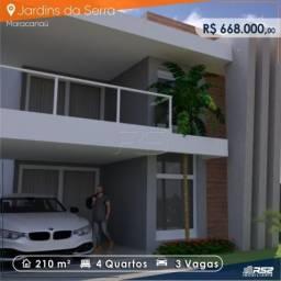 Casa a venda no Condomínio Jardins da Serra Maracanaú de 4 quartos