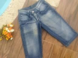 Calças capri e bermudas femininas jeans