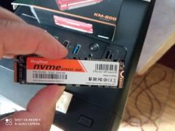 ssd nvme kingdian 256 GB com dissipador de calor.
