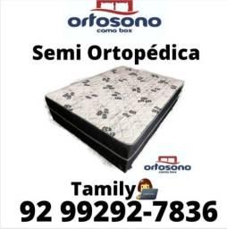 Conforto e Qualidade,  Cama Box Semi Ortopédica Entrega Grátis