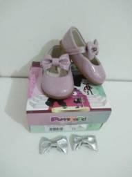 Sapato Pimpopé lilás (2 opções de laços)tamanho: 16.