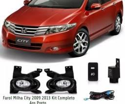 Farol Milha Honda City 2009 2010 2011 2012 2013 2014 Kit Completo