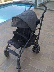 Carrinho de bebê Chicco Lite Way Basic Cinza com Preto