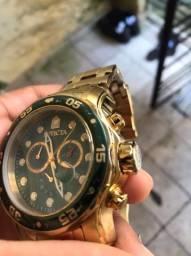 Relógio INVICTA ORIGINAL PRO DIVER ouro 18k cor verde MODELO 0075