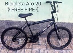 BICICLETA FREE FIRE ARO 20