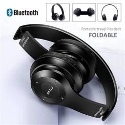 Fone De Ouvido P47 Bluetooth, Cartão Sd, Fm, Entrada P2