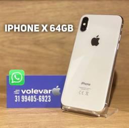 Título do anúncio: O + NOVO de BH! iPhone X 64GB - IGUAL ZERO! Nenhuma marca de uso - Com GARANTIA!