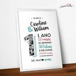 Título do anúncio: Quadro para presente - aniversario de namoro