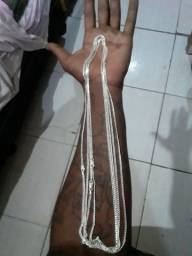 Cordas de prata escama de peixe 925