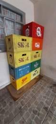 9 Caixas de Engradado de Cerveja