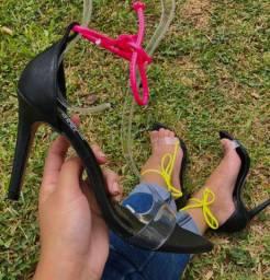 Sandália bico folha, 5 opções de tornozeleiras