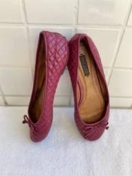sapatilha arezzo verniz rosa pink tamanho 37