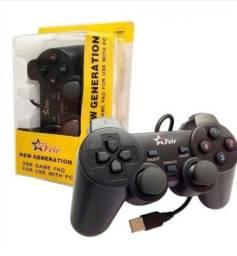 Controle gamepad joystick playstation 3 ps3 pc usb