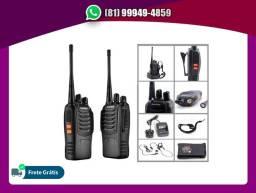 Título do anúncio: Kit 2 Rádios Ht Baofeng Walkie Talkie 16 Canais Bf-777s + fones