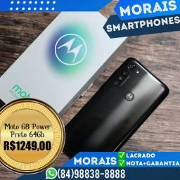 (LACRADO+NOTA) Motorola G8 Power 64Gb (PRETO)