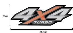 Kit Adesivo Lateral 4x4 Hilux Turbo 2016 a 20