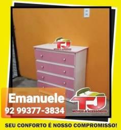 Título do anúncio: Cômoda rosa e branco à pronta entrega