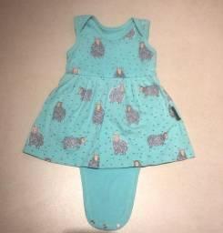Vestido Body Bebe Básico Ovelinha - Tamanho P