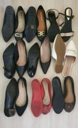 9 pares de sapato feminino n36