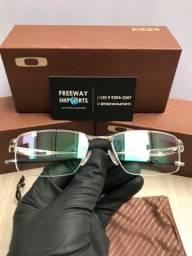 Óculos Oakley Tincup Prata armação de alumínio nova