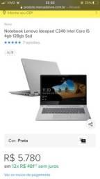 Vendo notebook Lenovo novinho na bala picada