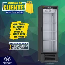 Título do anúncio: Visa cooler expositor refrigerado Refrimate 400L porta de vidro Novo Frete Grátis