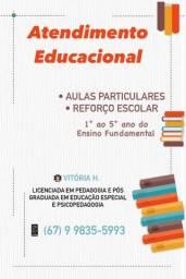 Aulas particulares/Reforço Escolar/Atendimento a Domicílio