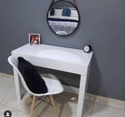 Kit ? Escrivaninha Alice ? 1 Gaveta ?Branco + Cadeira Charles Eames Eiffel