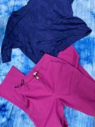 Desapego de roupas calça + blusa