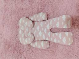 Título do anúncio: Acolchoado Redutor P/ Bebê Conforto Nuvem Rosa