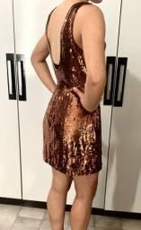 Vestido de festa dourado (acobreado)