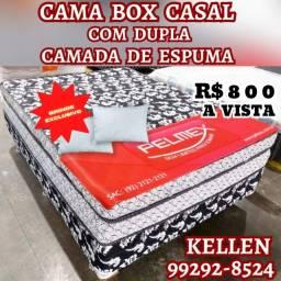Título do anúncio: cama cama ll box de casal +2 travesseiros de brinde  ll