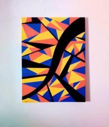 """Pintura acrílica abstrata ''Outono"""""""