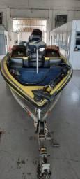 Lancha 21 pés Bass Boalt - 2014 - Impecável