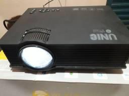 Mini projetor led portátil UC68 Wi-Fi  1800 lumens Data show