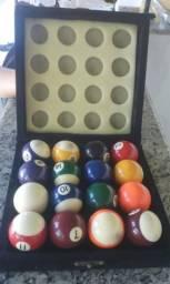Jogo de bolas de sinuca profissional enumeradas