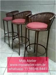 Móveis, mesa, cadeira, banqueta, Aluminio e ferro