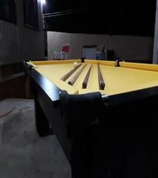 Mesa com Redinhas Cor Preta MDF Tecido Amarelo Tx Mod. KVDM2240