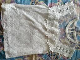 Blusa tecido renda