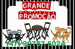 Conjuntos de Mesas e Cadeiras Dobráveis - Paifes