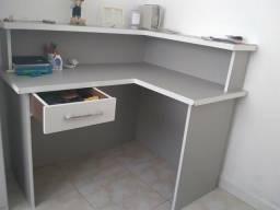 2 Mesas/Escritório em L + Cadeira