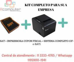 Kit completo para sua empresa Sat+impressora+sistema completo cupom fiscal