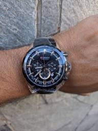 Relógio Curren cronógrafo (resistente a água)
