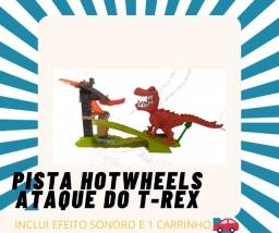 Pista hotwheels Ataque do T-Rex